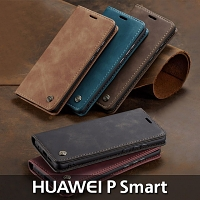 Huawei P Smart Retro Flip Leather Case