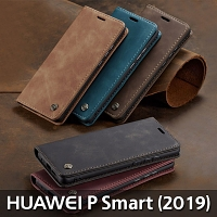 Huawei P Smart (2019) Retro Flip Leather Case