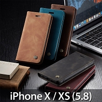 iPhone X / XS (5.8) Retro Flip Leather Case