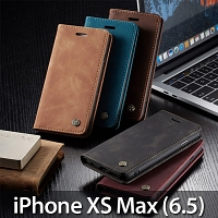 iPhone XS Max (6.5) Retro Flip Leather Case