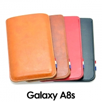 Samsung Galaxy A8s Leather Sleeve