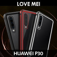 LOVE MEI Shadow Series Tempered Glass Case for Huawei P30