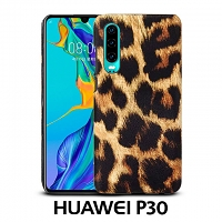 Huawei P30 Embossed Leopard Stripe Back Case