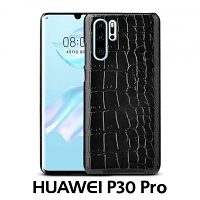 Huawei P30 Pro Crocodile Leather Back Case
