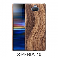 Sony Xperia 10 Woody Patterned Back Case