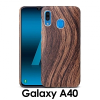 Samsung Galaxy A40 Woody Patterned Back Case