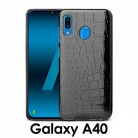 Samsung Galaxy A40 Crocodile Leather Back Case