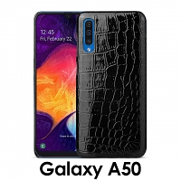 Samsung Galaxy A50 Crocodile Leather Back Case