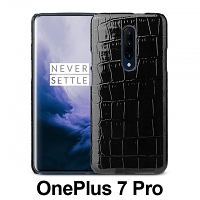 OnePlus 7 Pro Crocodile Leather Back Case