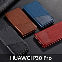 Huawei P30 Pro Canvas Flip Card Case