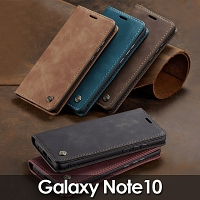 Samsung Galaxy Note10 Retro Flip Leather Case