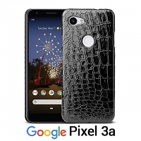 Google Pixel 3a Crocodile Leather Back Case