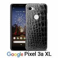 Google Pixel 3a XL Crocodile Leather Back Case