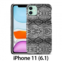 iPhone 11 (6.1) Faux Snake Skin Back Case