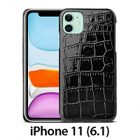 iPhone 11 (6.1) Crocodile Leather Back Case