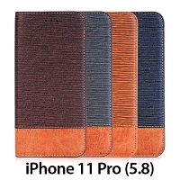 iPhone 11 Pro (5.8) Two-Tone Leather Flip Case