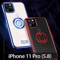 Marvel Series Electroplating TPU Soft Case for iPhone 11 Pro (5.8)