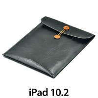 iPad 10.2 Leather Button Pouch