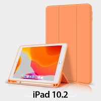 iPad 10.2 Flip Soft Back Case with Pencil Holder