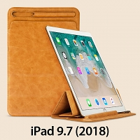 iPad 9.7 (2018) 2-in-1 Leather Sleeve Stand