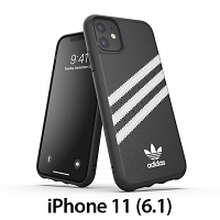 Adidas Moulded Case PU FW19 (Black/White) for iPhone 11 (6.1)