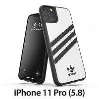Adidas Moulded Case PU FW19 (White/Black) for iPhone 11 Pro (5.8)