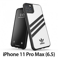 Adidas Moulded Case PU FW19 (White/Black) for iPhone 11 Pro Max (6.5)