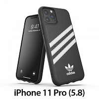 Adidas Moulded Case PU FW19 (Black/White) for iPhone 11 Pro Max (6.5)