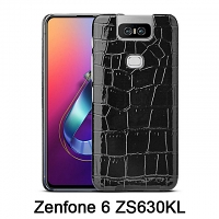 Asus Zenfone 6 ZS630KL Crocodile Leather Back Case