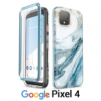 i-Blason Cosmo Slim Designer Case (Blue Marble) for Google Pixel 4