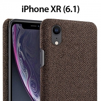 iPhone XR (6.1) Fabric Canvas Back Case
