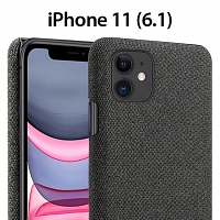 iPhone 11 (6.1) Fabric Canvas Back Case
