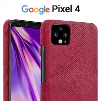 Google Pixel 4 Fabric Canvas Back Case
