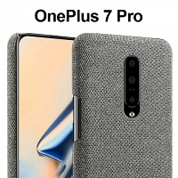 OnePlus 7 Pro Fabric Canvas Back Case