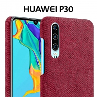 Huawei P30 Fabric Canvas Back Case