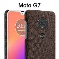 Motorola Moto G7 Fabric Canvas Back Case