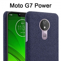 Motorola Moto G7 Power Fabric Canvas Back Case