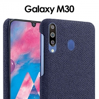 Samsung Galaxy M30/A40s Fabric Canvas Back Case
