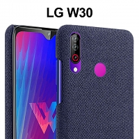 LG W30 Fabric Canvas Back Case
