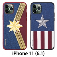 Marvel Series Embroidery TPU Case for iPhone 11 (6.1)