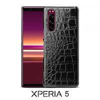 Sony Xperia 5 Crocodile Leather Back Case