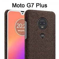 Motorola Moto G7 Plus Fabric Canvas Back Case