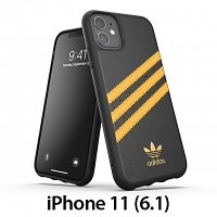 Adidas Moulded Case PU Woman SS20 (Black/Collegiate Gold) for iPhone 11 (6.1)