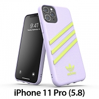 Adidas Moulded Case PU Woman SS20 (Purple Tint/Hi-Res Yellow) for iPhone 11 Pro (5.8)
