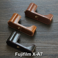 Fujifilm X-A7 Half-Body Leather Case Base
