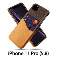 iPhone 11 Pro (5.8) Two-Tone Leather Case with Card Holder