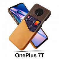 OnePlus 7T Two-Tone Leather Case with Card Holder