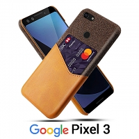 Google Pixel 3 Two-Tone Leather Case with Card Holder
