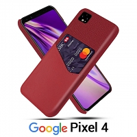 Google Pixel 4 Two-Tone Leather Case with Card Holder
