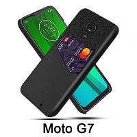 Motorola Moto G7 Two-Tone Leather Case with Card Holder